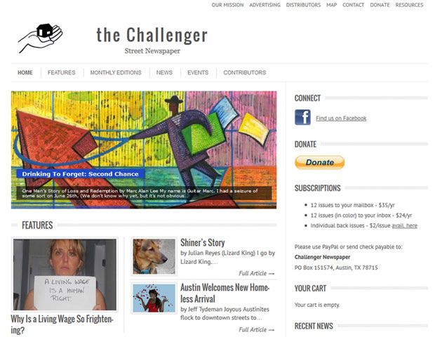 Challenger Street Newspaper - Non-profit website
