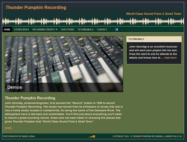 thunder pumpkin recording studio