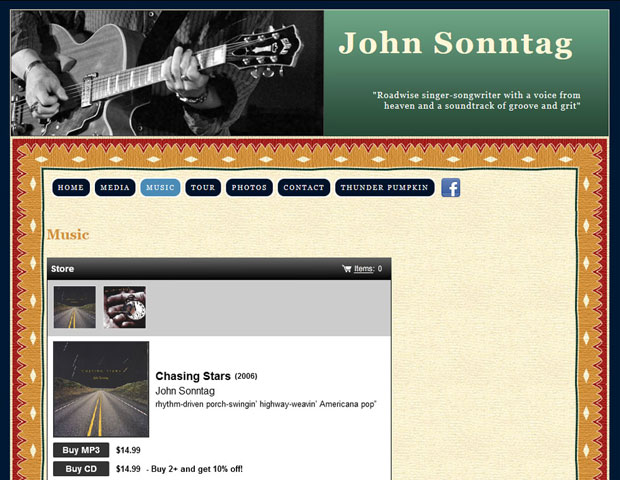 Solo musican's offical website