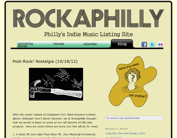 Indie concert listing website