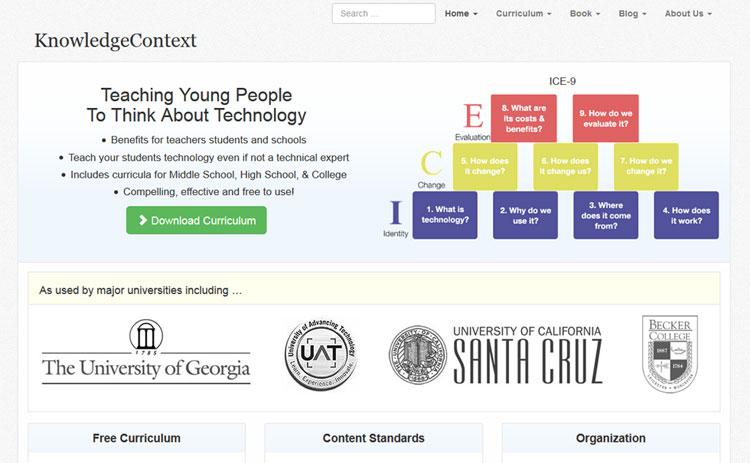 Technology Curriculum Website Design